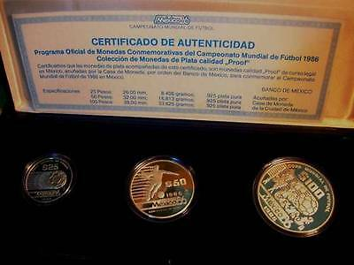 MEXICO Set 1986 World Cup Soccer Proof - PROOF - KM Set 1986