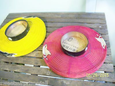 vintage japanese paper lanterns lot yellow red fish old newspaper inserts