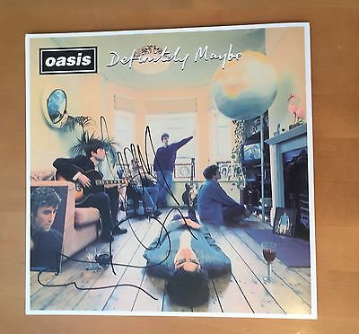 Signed Noel & Liam Gallagher Oasis Definitely Maybe Vinyl Rare With Proof & Coa