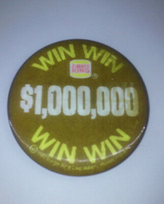 1982 Burger King Flicker Sweepstakes Button