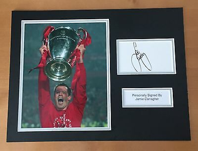 SIGNED JAMIE CARRAGHER PHOTO DISPLAY MOUNT 16x12 HAND SIGNED WITH COA