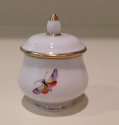 Hochst Covered Salt Dish #1 Hand-Painted Porcelain Made in Germany New