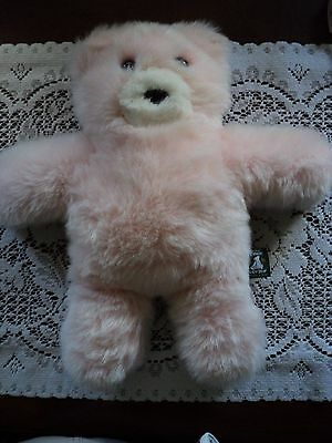 """Vermont Teddy Bear PINK Flat Take Along 12"""" Plush Bear with tags! NOS"""