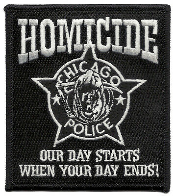 "Chicago Police Homicide Illinois Shoulder Patch  4 1/4"" tall by 3 3/4"" wide"