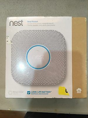 Nest Protect Smoke & Carbon Monoxide Alarm  2nd Gen. Battery S3000BWES Brand-New
