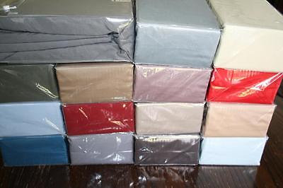 400Tc Egyptian Sateen Cotton  King Fitted Sheet - Assorted Colours - New