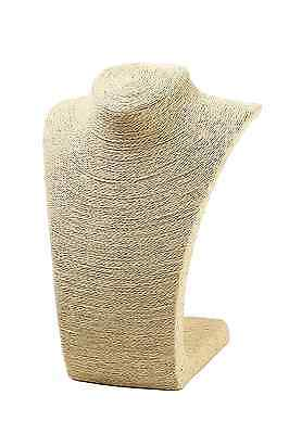 """Burlap Necklace Bust Jewelry Display Stand (10.8"""") by Juvale"""