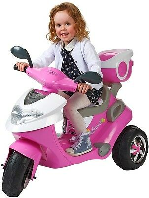 Kids Tricycle Electric Scooter Motorbike 6V Battery Ride On Toy Bike in Pink
