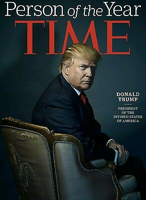 *PHOTOGRAPH* of Donald Trump - TIME MAGAZINE PERSON OF THE YEAR 2016