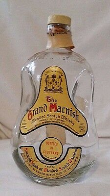 Vintage Grand Macnish Scotch Whiskey Dimpled Bottle 4/5 Quart