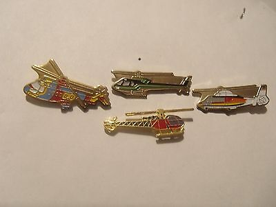 lot 4 pin's helicoptere ,avion militaire