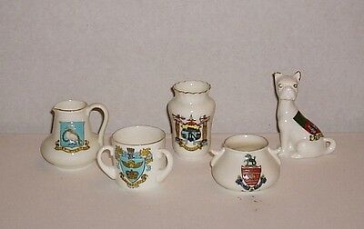 5 Pieces Of Crested China