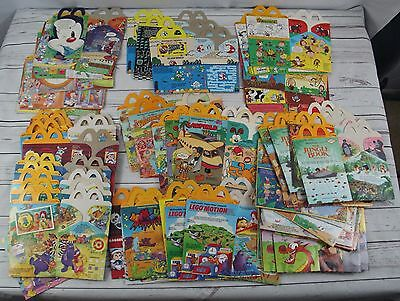 Assorted Lot of McDonald's Happy Meal Cardboard Box Containers Vintage 90's