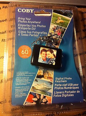 NEW SEALED Coby DP151 LCD Digital Photo Keychain Pocket Holds 60 Pictures