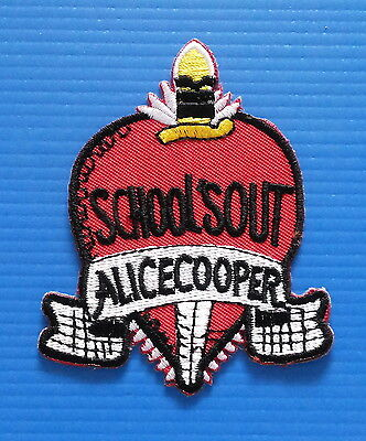 ALICE COOPER SCHOOLS OUT  Entertainment Memorbilia Iron/Sewn On Patch Free Ship