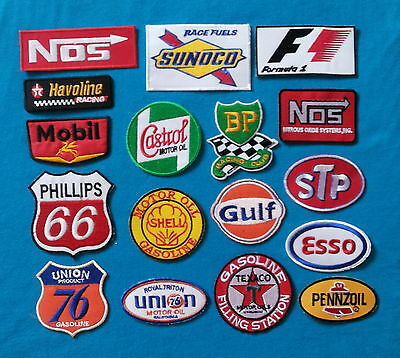 17 GAS/OIL COLLECTORS Average 3 Inch Iron Or Sewn On PATCHES Free Ship