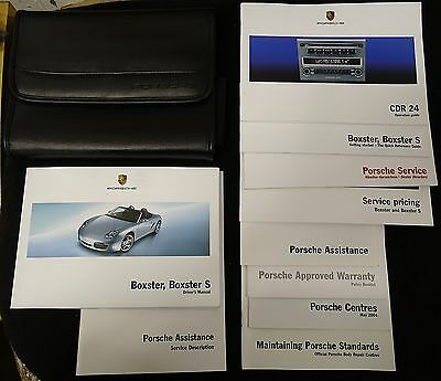 Porsche Boxster 987 Manuals Drivers Manual and Case Owners Handbook 05-06 S