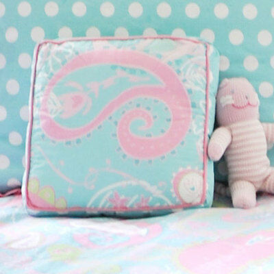 Aqua Paisley Nursery Throw Pillow for Girls from My Baby Sam
