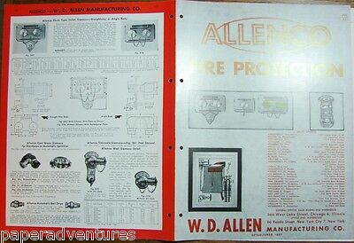 1958 ALLENCO Fire Protection Firefighting Extinguishers Hoses Cabinets Catalog