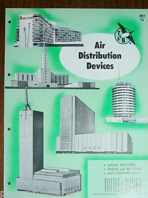 1958 T&B Air Distribution Devices BEVERLY HILTON HOTEL Capitol Records Catalog