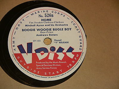 9/2R Andrews Sisters -  Home - Boogie Woogie Bugle Boy --Mills Brothers - I Wish