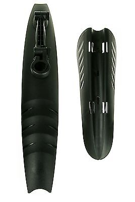 "Front & Rear Bike Mudguard Set 20"" to 26"", Black, For 25mm-32mm Seatpost"