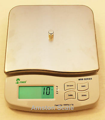 DIGITAL 10000 x 1 GRAM 22 LB SCALE BALANCE BENCH LABORATORY GOLD SILVER