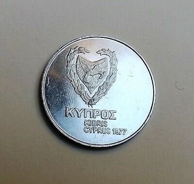 Cyprus 1977 Five-Hundred Mils Unc Very Nice Condition Nice Rare Coin