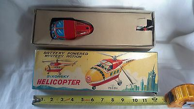 1950's SIKORSKY HELICOPTER, BATTERY OPERATED MYSTERY ACTION TOY, JAPAN, MIB!!