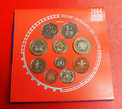 2004 Brilliant Uncirculated Coin Set With All Packaging Ideal Birthday Gift