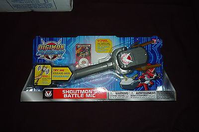 NEW 2013 Bandai Digimon Fusion Shoutmon's Battle Mic W/Sounds Extends up to 20""