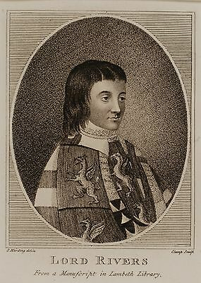 Original 18th Century Engraving, Harding and Clamp, Lord Rivers Portrait