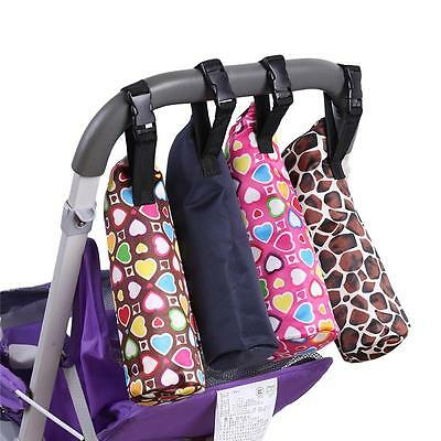 Portable Thermal Baby Feeding Bottle Warmers Insulation Tote Stroller Hang Bag T