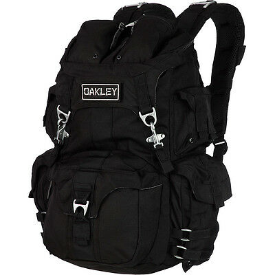 New Oakley Mechanism Military Backpack Black 30L Laptop Hiking Pack $200