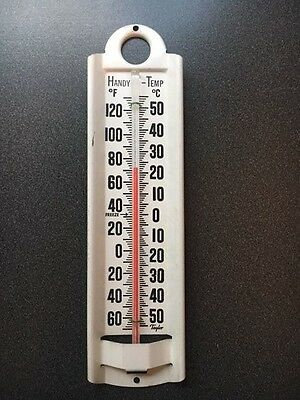 "Vintage Thermometer 9"" White Metal By Taylor (#8-18)"