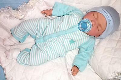 """Xmas Delivery Reborn Sleeping 18"""" Baby Boy Doll with Magnetic Dummy"""