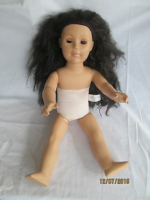 "Madame Alexander 18"" Asian Doll Black hair Brown eyes needs hair restyled"