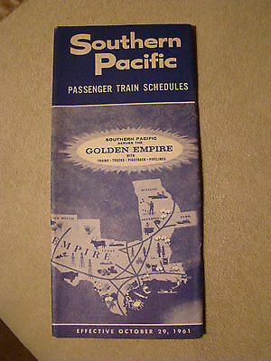 Southern Pacific - Timetable - April 30, 1961