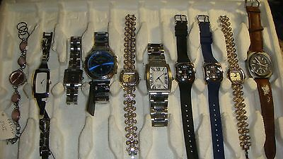 /trade Only Job Lot Of 10 X  Mixed Names  Watches 100% Gen  ,,...