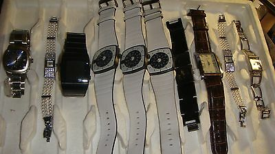 /trade Only Job Lot Of 10 X  Mixed Names  Watches 100% Gen  .