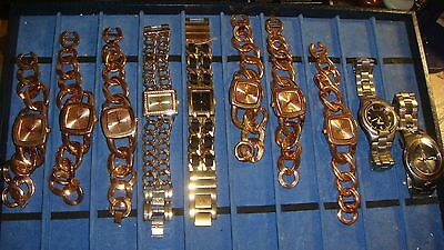 /trade Only Job Lot Of 10 X  Mixed Names  Watches 100% Gen  ,,..