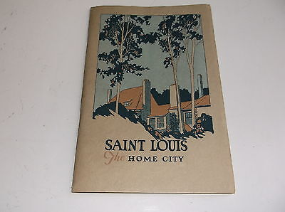1923 Saint Louis, The Home City.  Rare Illustrated Guide Booklet