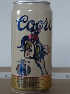 Coors - 1993 Official Beer Pro Rodeo Cowboy Assoc, 12 oz, Leer