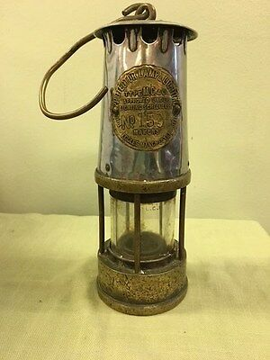 Genuine All Brass Deputies Miners Davy Safety Lamp The Protector Lamp Eccles M/C