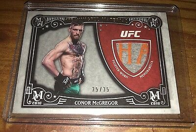 2016 Topps UFC Museum Conor McGregor Meaningful Material 35/35 Last Made 1/1