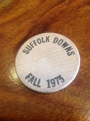 Suffolk Downs Boston Massachusetts Fall 1975 Wooden Nickel