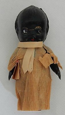 Old Vintage Antique Teeny Doll African Black American Kewpie Style Celluloid   H