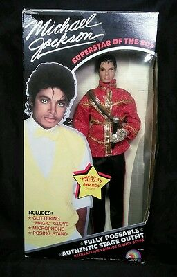 Vintage Michael Jackson Superstar of 80s American Music Awards Outfit Doll ljn