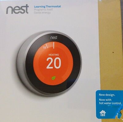 3rd Gen Nest Learning Thermostat + Hot Water Control 3rd Generation - NEW