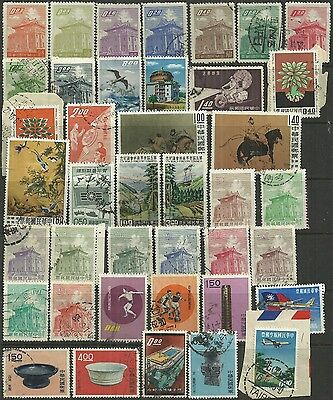Taiwan 1959 - 63 40 stamps as scan